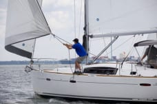 Sailor learn on a Colgate sailboat