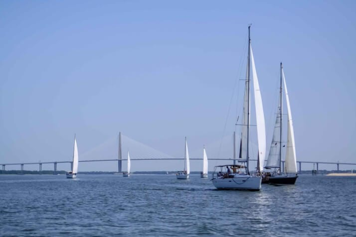 Sailing Regatta, Charleston Race Week, Charleston Sailing Tours