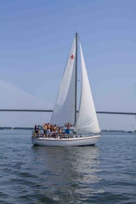 Bachelor party cruises on Charleston Harbor